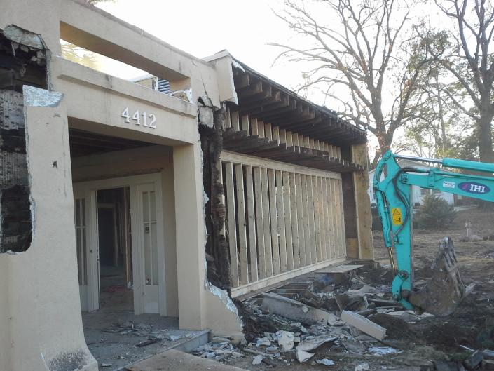 [Image: The first stages of our demolition process for this commercial building.]