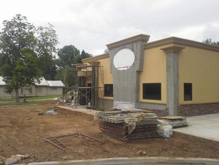 [Image: We are halfway through our building process, the complete design was our own for the Green Papaya!]