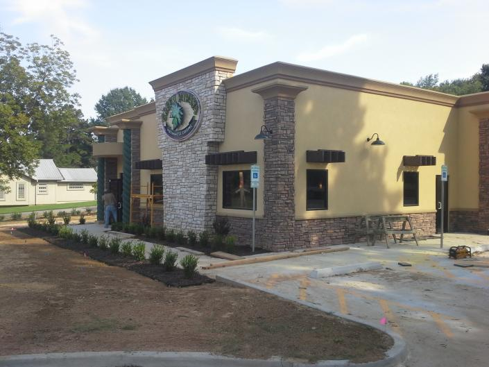 [Image: Newly constructed restaurant called The Green Papaya built and designed by AC/DC Electrical Contracting Company Inc.]